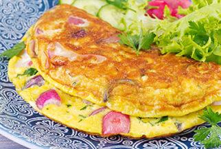 Receita Omelete de Legumes PronoKal Low Carb