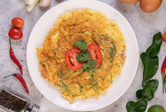 Receita Omelete Mediterrâneo PronoKal Dieta Cetogênica