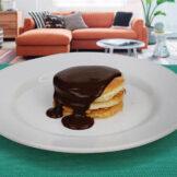 Panqueca com Calda de Chocolate PronoKal - Dieta Cetogênica